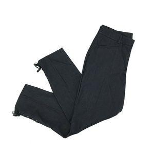 Talbots Straight Leg Lace Up Denim Pants Sz 6 Dark